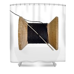 Needle And Thread Shower Curtain by Michal Boubin