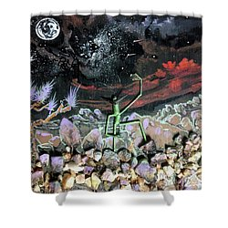 Haystack Needle Shower Curtain