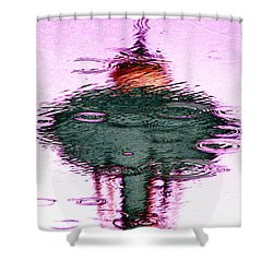 Needle In A Raindrop Stack 2 Shower Curtain by Tim Allen