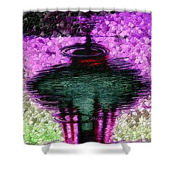 Needle In A Raindrop Stack 3 Shower Curtain by Tim Allen