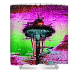 Needle In A Raindrop Stack Shower Curtain by Tim Allen