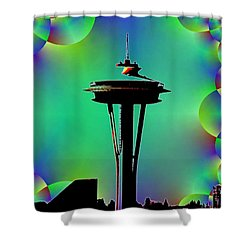 Needle In Fractal 3 Shower Curtain by Tim Allen