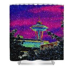 Needle In Mosaic 2 Shower Curtain by Tim Allen
