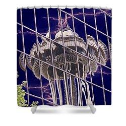 Needle Reflection Shower Curtain by Tim Allen