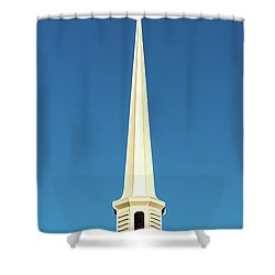 Needle-shaped Steeple Shower Curtain by Onyonet  Photo Studios
