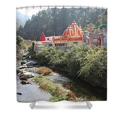 Neem Karoli Baba Ashram, Kainchi Shower Curtain by Jennifer Mazzucco