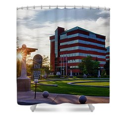 Shower Curtain featuring the photograph Neenah Riverwalk by Joel Witmeyer