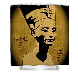 Nefertiti Egyptian Queen Shower Curtain by Georgeta  Blanaru