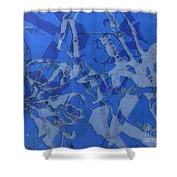 Negative Photo Silkscreen Shower Curtain
