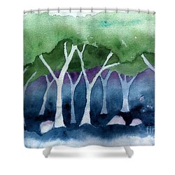 Negative Thinking Makes A Woodland Scene Shower Curtain