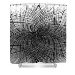 Shower Curtain featuring the digital art Negativity by Carolyn Marshall