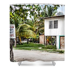 Neglected In Paradise Shower Curtain