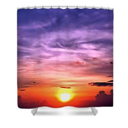 Negril Sunset Shower Curtain