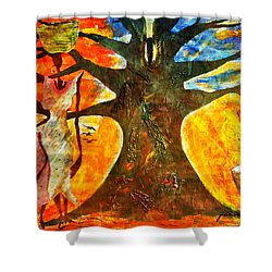 Neighbor - Voisin Shower Curtain