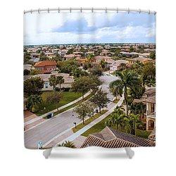 Neighborhood Aerial Shower Curtain