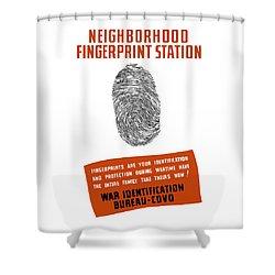 Neighborhood Fingerprint Station Shower Curtain by War Is Hell Store