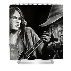 Neil Young And Neil Old Shower Curtain