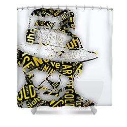 Neil Young Heart Of Gold Shower Curtain