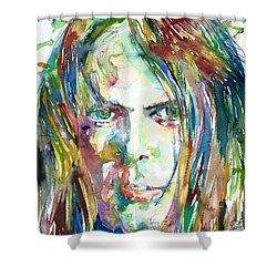 Neil Young Portrait Shower Curtain