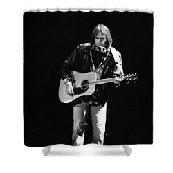 Neil Young Shower Curtain by Wayne Doyle