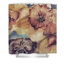 Shower Curtain featuring the painting Nellie Mae by Mindy Newman