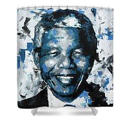 Nelson Mandela II Shower Curtain