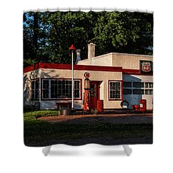 Nelsonville Phillips 66 Shower Curtain by Trey Foerster