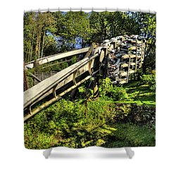 Nemesis In Autumn Shower Curtain by Rob Hawkins