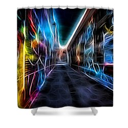 Neon Aleey Shower Curtain