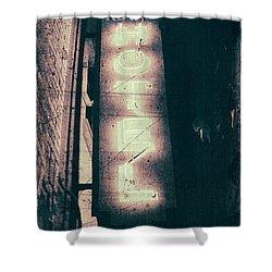 Neon Coffin Shower Curtain