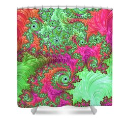 Neon Dream Shower Curtain