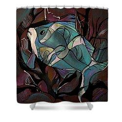 Neon Fish Shower Curtain by Deyana Deco