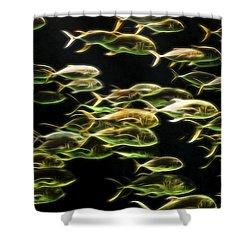Neon Fish Shower Curtain