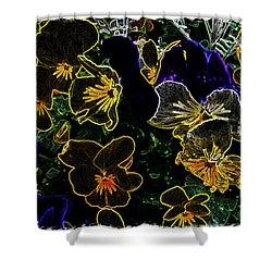 Neon Flowers Shower Curtain