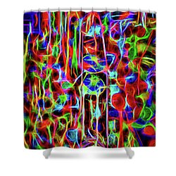 Shower Curtain featuring the photograph Neon Gum by Spencer McDonald