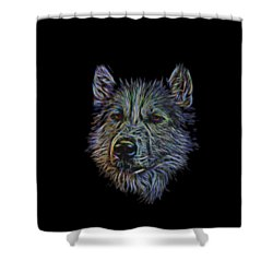 Neon Husky Shower Curtain