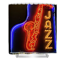 Neon Jazz Shower Curtain