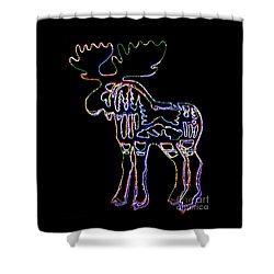 Shower Curtain featuring the photograph Neon Moose by Larry Campbell