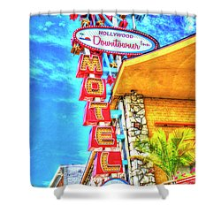 Neon Motel Sign Shower Curtain