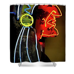 Neon Navajo Shower Curtain by David Patterson