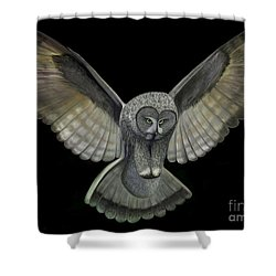 Neon Owl Shower Curtain