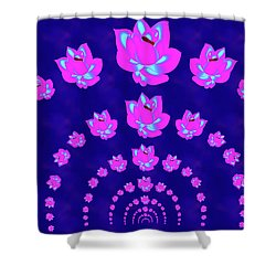 Neon Pink Lotus Arch Shower Curtain
