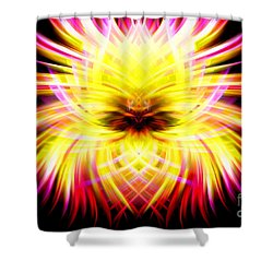 Neon Puffer Fish Shower Curtain by Cherie Duran