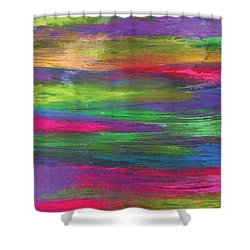 Neon Rainbow Shower Curtain