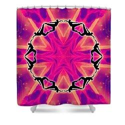 Shower Curtain featuring the digital art Neon Slipstream by Derek Gedney