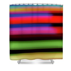 Neon Stripe Shower Curtain