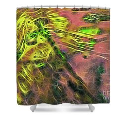 Neon Synapses Shower Curtain