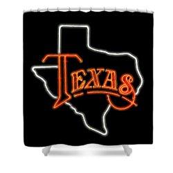 Shower Curtain featuring the digital art Neon Texas by Daniel Hagerman