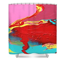 Neon Tide Shower Curtain