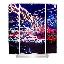 Neon Ufa Triptych Number 1 Shower Curtain